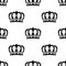 Stock Image : Seamless pattern of royal crowns