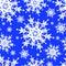 Stock Image : Seamless pattern with white snowflakes