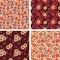 Stock Image : Seamless patterns