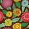 Stock Image : Seamless retro flowers pattern