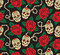 Stock Image : Seamless with roses and skulls