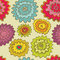 Stock Image : Seamless round flowes pattern
