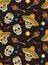 Stock Image : Seamless with sugar skulls