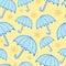 Stock Image : Seamless umbrella pattern