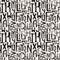 Stock Image : Seamless vintage style pattern,  grunge letters of random