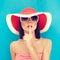 Stock Image : Secret summer Girl