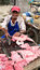 Stock Image : Seller of the meat in Colombia