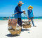 Stock Image : Selling seafood on the beach