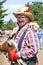 Stock Image : Senior Lady Clown at Street