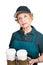 Stock Image : Senior Woman Barrista