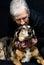 Stock Image : Senior woman with dog