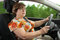 Stock Image : Senior Woman Driving a Car