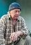 Stock Image : Seniors portrait of contemplative old caucasian man