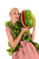 Stock Image : Sensual woman with watermelon