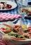 Stock Image : Served food at Greek restaurant