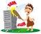 Stock Image : A server primitive