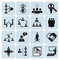 Stock Image : Set of 16 management and human resources icons