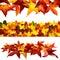 Stock Image : Set of 3 autumnal borders