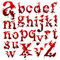 Stock Image : Set of Bloody letters isolated