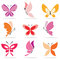 Stock Image : Set of butterfly icons