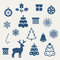 Stock Image : Set of Christmas icons.