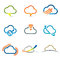 Stock Image : Set of Cloud icons 2