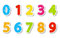 Stock Image : Set of color paper numbers