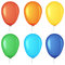 Stock Image : Set of colored balloons.