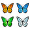 Stock Image : Set of colored butterflies