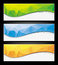 Stock Image : Set of colorful abstract banners.