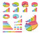 Stock Image : Set Of Coloured Charts