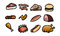 Stock Image : Meat Icons