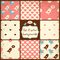 Stock Image : Set of Cute Seamless Vector Patterns