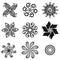 Stock Image : Set Deco Small Circles
