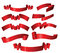 Stock Image : Set of different red ribbons