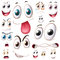 Stock Image : Set of eyes