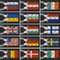 Stock Image : Set of flags of different countries.