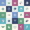 Stock Image : Set of flat design icons for medicine