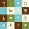 Stock Image : Set of flat designed ecology icons