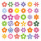 Stock Image : Set of Flower icons.