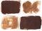 Stock Image : Set of four brown grunge brushstroke backgrounds