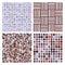 Stock Image : Set of four decorative retro seamless patterns