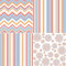 Stock Image : Set of four different seamless pattern