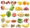 Stock Image : Set of fruit on white background