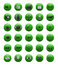 Stock Image : Green web and multimedia icons