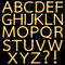 Stock Image : Set of Golden Broadway Light Bulb Alphabet