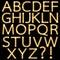 Stock Image : Set of Golden Broadway Light Bulb Alphabet