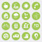 Stock Image : Set of Green Ecology Flat Icons