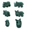 Stock Image : Set of grey rhino made from plasticine