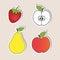 Stock Image : Set of healthy food